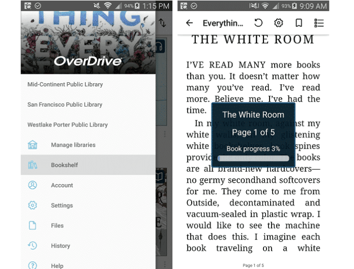 Overdrive Reading Experience
