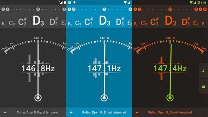 app de afinador de violão gStrings