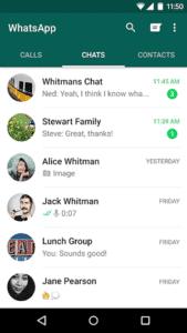 Melhores aplicativos VOIP e aplicativos SIP para Android - WhatsApp Messenger - Main Interface