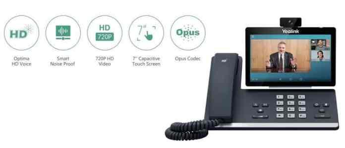 Yealink SIP-T58V Inteligente Mídia Android HD Telefone VoIP, YEA-SIP-T58V
