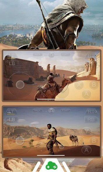 Jogue Assassins Creed Origins no Gloud da Cloud Gaming no Android