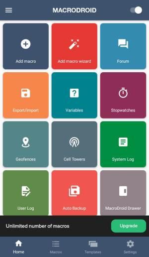 Melhores aplicativos Auto Clicker para Android - Macrodroid