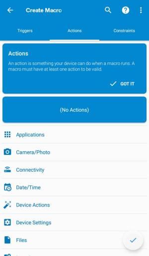 Melhores aplicativos Auto Clicker para Android - ações do Macrodroid