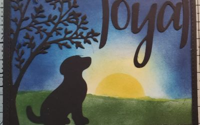 Background Sponging Technique for Loyal Happy Tail dog Card – May Online Card Class
