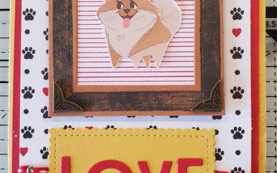 Playful Pets Love Birthday Card