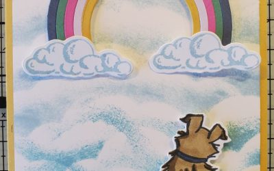 Pampered Pets Rainbow Card Stampin' Up!