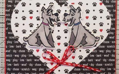 Playful Pets Love Card