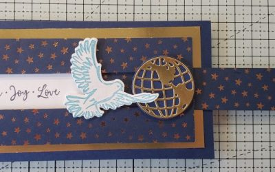 Slimline Sliding Christmas Card – Dove of Hope – Stampin' Up!