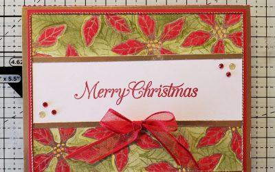 Poinsettia Merry Christmas Card