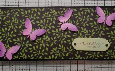 Slimline Fly Away Butterfly Card