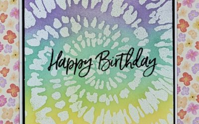 Spiral Dye Birthday Card Stampin Up