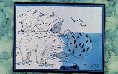 Artic Bears Spinning Card