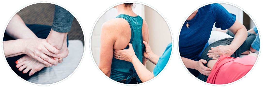 Three physical therapy patients