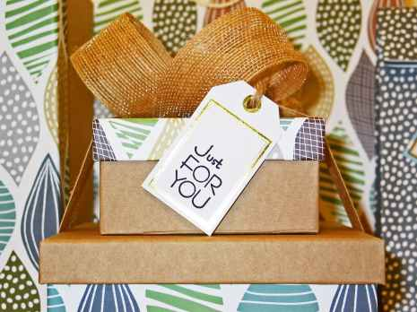 Gift with tag that reads Just for You