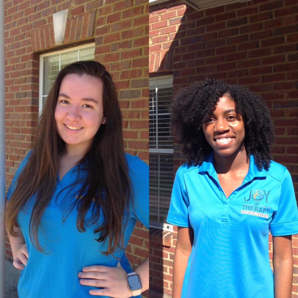 Two student interns at Joy of Therapy office
