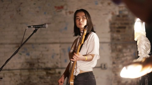 Caption: Mitski performing at Market Hotel back in November 2016. Photo Credit: Kellie Zhao
