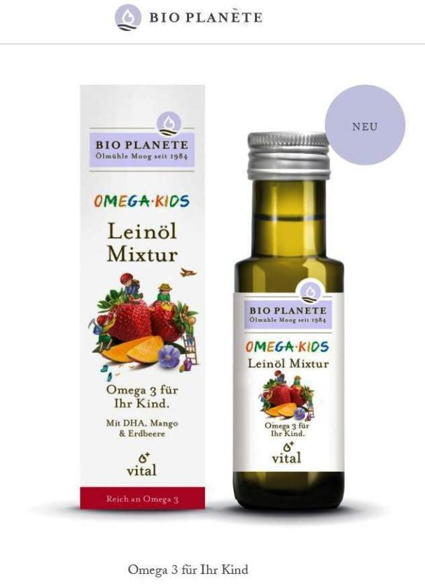兒童Omega3+DHA+維他命E 食用油 100ML可加入優格,麥片或水果沙拉
