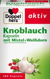 德國多寶雙心大蒜精山楂Doppelherz Knoblauch Kapseln mit Mistel + Weißdorn, 480 顆