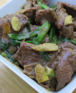 8 Tips to a great stir fry : Stir fry beef with ginger and scallions