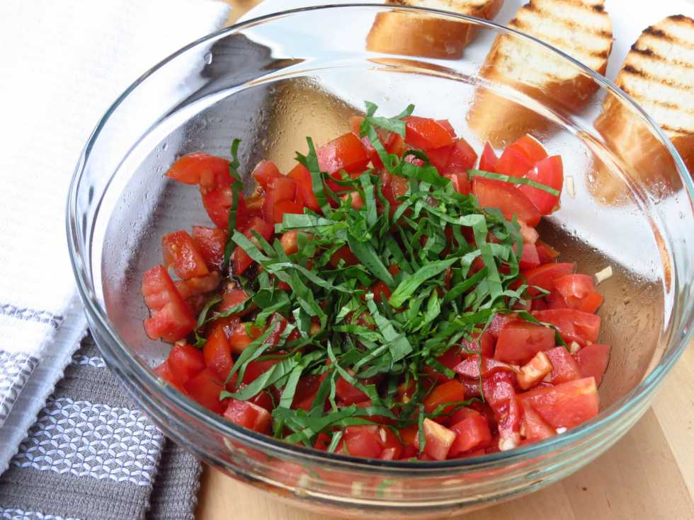 with Tomatoes, Basil and Balsamic Vinegar