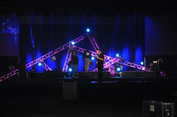 The finished stage, as of 4:00pm on Thursday!