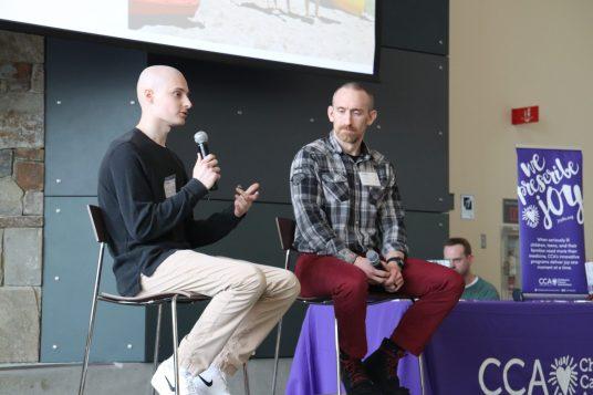 D.J. Speaking at Genentech