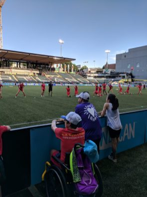 CCA-served kids at a Thorns game