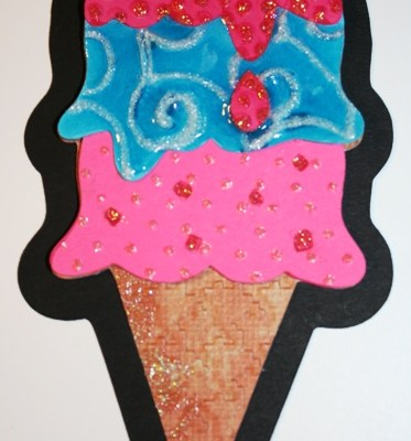 Tips About Stickles and Diamond Glaze + Decorated Ice Cream Cone