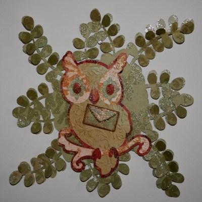 Cricut Sentimentals Owl Wreath