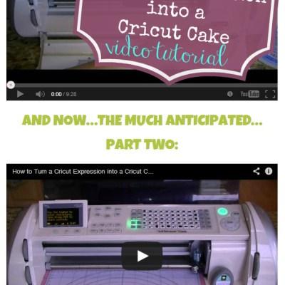 How to Turn A Cricut Expression into a Cricut Cake Video