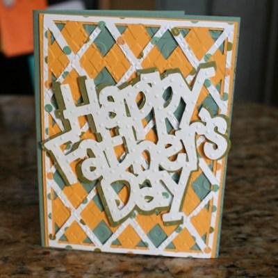 Cricut Wild Card Cartridge Father's Day Card