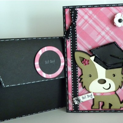 Featured Designer – Graduation Card & Envelope Using Joy's Life Lots of Pun Stamp Set