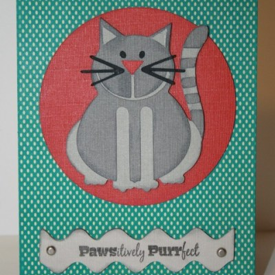 Featured Designer – Cricut Lite Chore Chart Cat Card & Joy's Life Lots of Pun Stamps