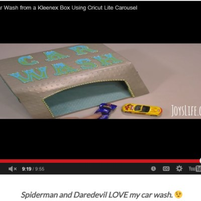 Video: How to Make a Car Wash from a Kleenex Box – Cricut Lite Carousel