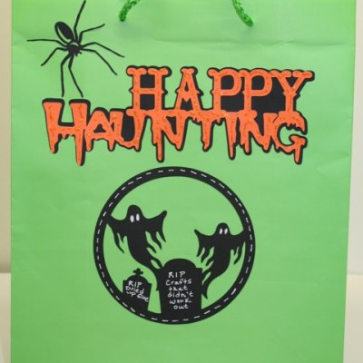 Cricut Halloween Post-It Craft Paper Gift Bag