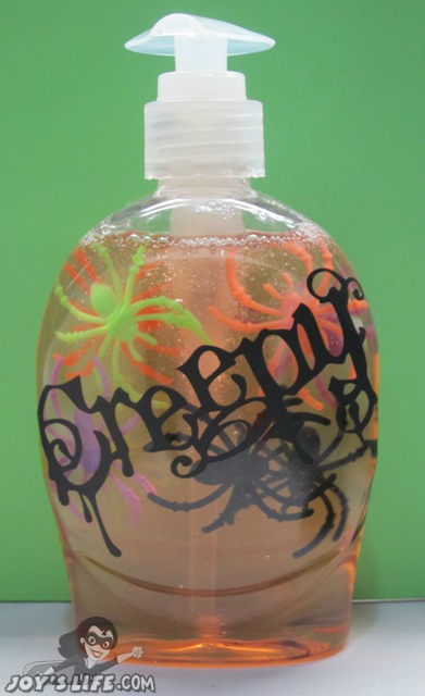 Creepy Soap...perfect for scaring my guests in the guest bath!