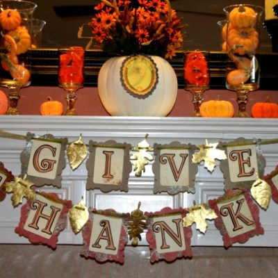 Cricut Thanksgiving Banner