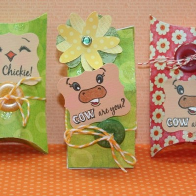 Peachy Keen Guest Designer Sizzix Pillow Box & Sizzix Milk Carton – Give Away