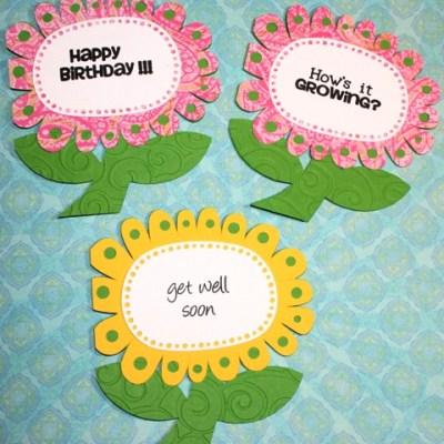 Silhouette SD Flower Cards & Martha Stewart Score Board Envelope + Super Joy Loves Her Super Friends Day GIVE AWAY