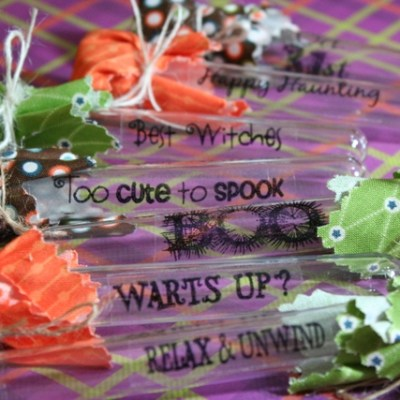 How to Make Clear Sticker Sentiments from Craft Stamps – Halloween Tubes