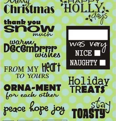 NEW Wintery Puns Stamps and Twine Gift