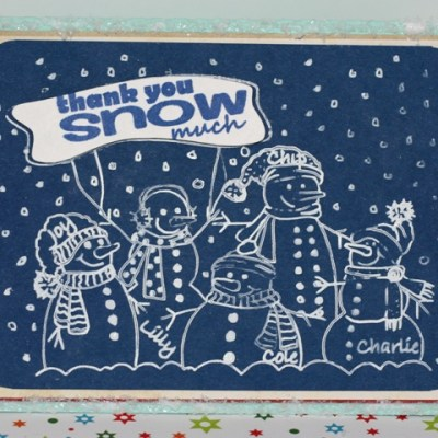 Silhouette Snowman Family Sketch Card & Give Away