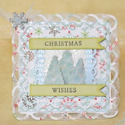Christmas Wishes Spellbinders Card & GIVE AWAY