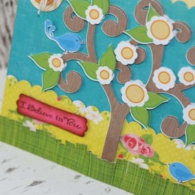 Spring Tree Card Lori Whitlock Design with Silhouette Cameo