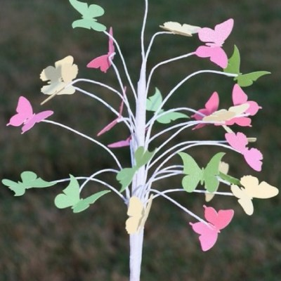 Spring Dollar Store Butterfly Tree with KNK Zing