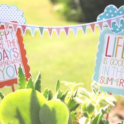Easy Summer Plant Stakes for Floral Arrangements with Glue Dots