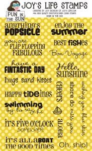 Pun in the Sun Stamp Set at JoysLife.com Products page. #joyslifestamps #joyslife