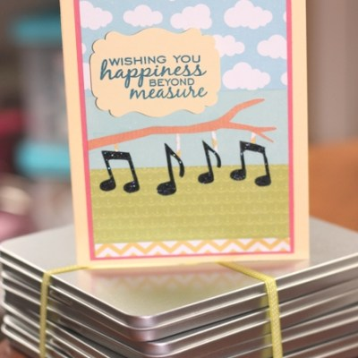 Cricut Music Card and CD Gift Tins