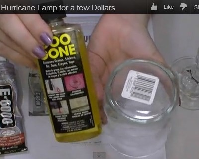 How to Make Hurricane Lamps from Dollar Store Glass