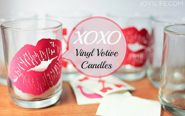 vinyl votive candles valentine's day